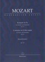 Mozart, Wolfgang Amadeus : Concerto KV 271 Jeunehomme-Konzert per Pianoforte e Orchestra, partitura tascabile. Urtext