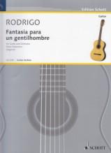 Rodrigo, J. : Fantasia para un Gentilhombre per Chitarra e Orchestra, riduzione per Chitarra e Pianoforte