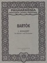 Bartók, B. : Concerto per Pianoforte e Orchestra nr. 1. Partitura tascabile