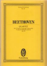 Beethoven, L. van : Quartetto d'archi op. 95. Partitura tascabile