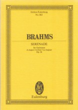 Brahms, J. : Serenata in la op. 16. Partitura tascabile