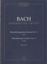 Bach, J.S. : Concerto Brandeburghese n. 2, BWV 1047. Partitura tascabile. Urtext