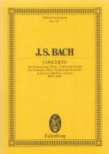 Bach, J.S. : Concerto in la minore BWV 1044, per Flauto, Violino, Cembalo e Archi. Partitura tascabile