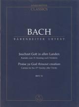 Bach, J.S. : Cantata BWV 51 Jauchzet Gott in allen Landen. Partitura tascabile. Urtext