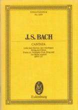 Bach, J.S. : Cantata BWV 137, Lobe den Herren König der Ehren. Partitura tascabile