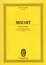 Mozart, Wolfgang Amadeus : Concerto per Pianoforte e Orchestra in re KV 451. Partitura tascabile