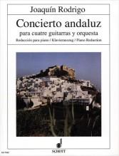 Rodrigo, J. : Concierto Andaluz per 4 Chitarra e Orchestra, riduzione per 4 chitarre e Pianoforte (Romero)