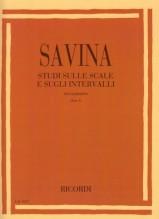 Savina, L. : Studi sulle scale e sugli intervalli per Clarinetto, vol. I