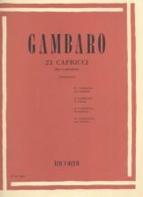 Gambaro, V. : 21 Capricci per Clarinetto