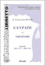 Bach, J.S. : Cantate e Oratori, tomo IV, BWV 171 - 249, libretto con testo originale a fronte
