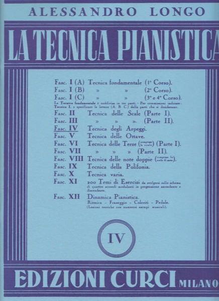 Longo, Alessandro : La tecnica pianistica, fascicolo 4. Tecnica degli arpeggi