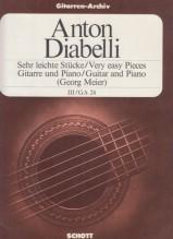 Diabelli, A. : Pezzi facilissimi per Chitarra e Pianoforte, vol. 3