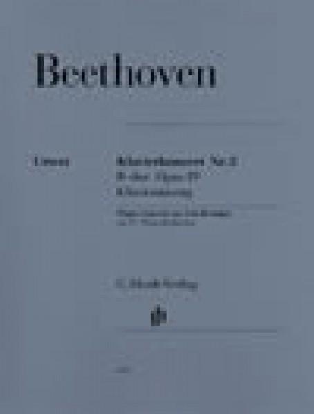 Beethoven, Ludwig van : Concerto n. 2 op. 19 per Pianoforte e Orchestra, riduzione per 2 Pianoforti. Urtext