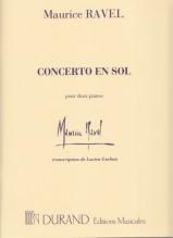 Ravel, Maurice : Concerto in sol per Pianoforte e Orchestra, riduzione per 2 Pianoforti
