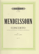 Mendelssohn Bartholdy, Felix : Concerto nr. 1 in sol op. 25, per Pianoforte e Orchestra; riduzione per 2 Pianoforti