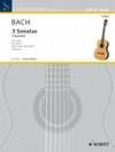 Bach, J.S. : 3 sonate, per Chitarra