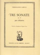 Carulli, F. : 3 sonate op. 21, per Chitarra (Chiesa)