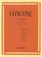 Concone, G. : 50 Lezioni op. 9 per il medium della Voce, con accompagnamento di Pianoforte