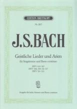 Bach, J.S. : Geistliche Lieder und Arien für Singstimme und Basso continuo