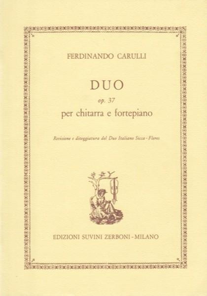 Carulli, F. : Duo op. 37 per Chitarra e Fortepiano