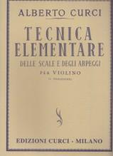Curci, Alberto : Tecnica elementare delle scale e degli arpeggi per Violino, I posizione