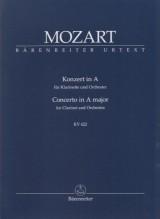 Mozart, Wolfgang Amadeus : Concerto K 622, per Clarinetto e Orchestra. Partitura tascabile. Urtext