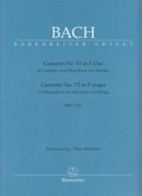 Bach, J.S. : Concerto VI BWV 1057 per Clavicembalo e Orchestra, riduzione per 2 Clavicembali. Urtext