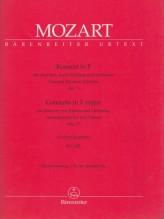 Mozart, Wolfgang Amadeus : Concerto per 2 (3) Pianoforti e Orchestra KV 242, riduzione per 2 Pianoforti solisti e Pianoforte d'accompagnamento. Urtext