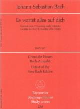 Bach, J.S. : Cantata Es wartet alles auf dich, BWV 187. Partitura tascabile. Urtext