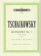 Tchaikovsky, Pyotr Il'yich : Concerto n. 1 op. 23 per Pianoforte e Orchestra, riduzione per 2 Pianoforti