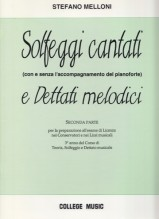 Melloni, S. : Solfeggi cantati e dettati melodici, parte seconda