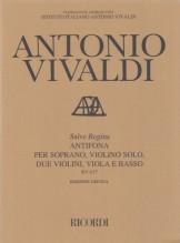 Vivaldi, A. : Salve Regina, per Soprano, Violino solo, 2 Violini, Viola e Basso continuo RV 617. Partitura