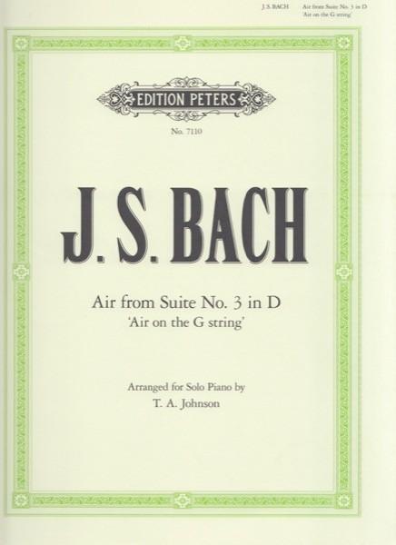 Bach, J.S. : Aria dalla Suite n. 3 per Orchestra d'Archi, arrangiamento per Pianoforte