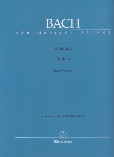 Bach, J.S. : Mottetti BWV 225-230, per Canto e Pianoforte. Urtext