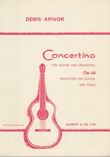 Apivor, D. : Concertino op. 26 per Chitarra e Orchestra. Riduzione per Chitarra e Pianoforte