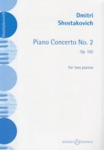 Shostakovich, Dmítrij : Piano Concerto nr. 2 op. 102, riduzione per 2 Pianoforti