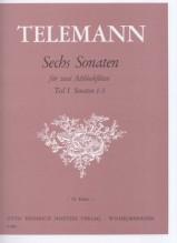 Telemann, Georg Philipp : Sei sonate per 2 Flauti dolci Contralti, vol. I: 1/3