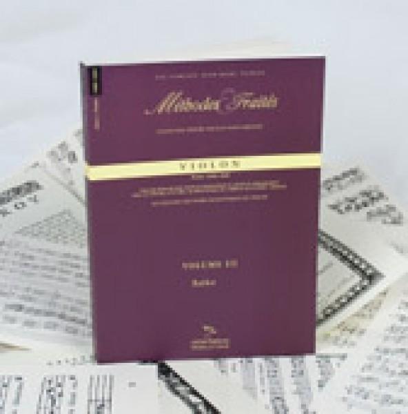 AA.VV. : Violino, Francia 1800-1860. Metodi e Trattati, vol. III. Facsimile