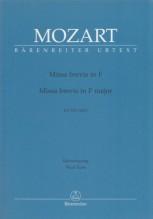 Mozart, W.A. : Missa Brevis in fa KV 192, per Canto e Pianoforte. Urtext