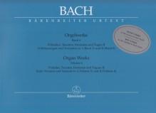 Bach, J.S. : Composizioni per Organo, vol. VI: Präludien, Toccaten, Fantasien und Fugen II. Urtext