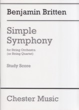 Britten, B. : Simple Symphony, partitura tascabile