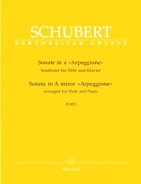Schubert, Franz : Sonata in la minore Arpeggione D 821, arrangiamento per Flauto e Pianoforte. Urtext