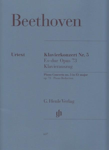 Beethoven, Ludwig van : Concerto n. 5 op. 73 per Pianoforte e Orchestra, riduzione per 2 Pianoforti. Urtext