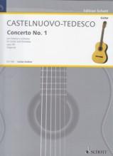 Castelnuovo-Tedesco, M. : Concerto n. 1 in re op. 99, per Chitarra e Orchestra,  riduzione per Chitarra e Pianoforte