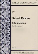 Parsons, R. : 2 In nomine per 4 strumenti