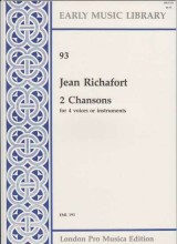 Richafort, J. : 2 chansons per 4 Voci o strumenti (SATB) (Thomas)