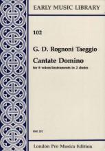 Rognoni Taeggio, G. D. : Cantate Domino per 8 Voci o strumenti (SSAATTBB) in 2 cori (Thomas)