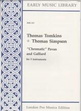 "Tomkins, T. : ""Chromatic"" pavan and galliard per 5 strumenti (SSATB) (Thomas)"