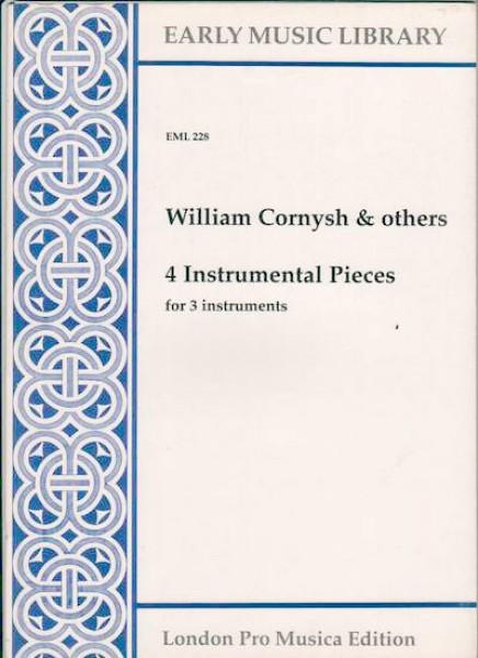 AA.VV. (Cornysh et alia) : 4 instrumental pieces per 3 strumenti (STB) (Thomas)