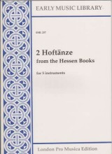 Anonimi : 2 Hoftänze from the Hessen Books per 5 strumenti (SATTB) (Thomas)